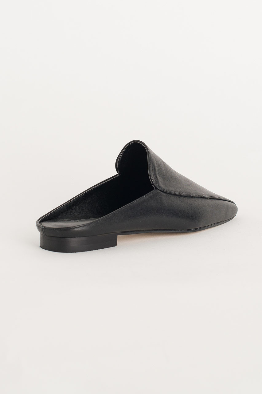 Square Toe Mule, Black