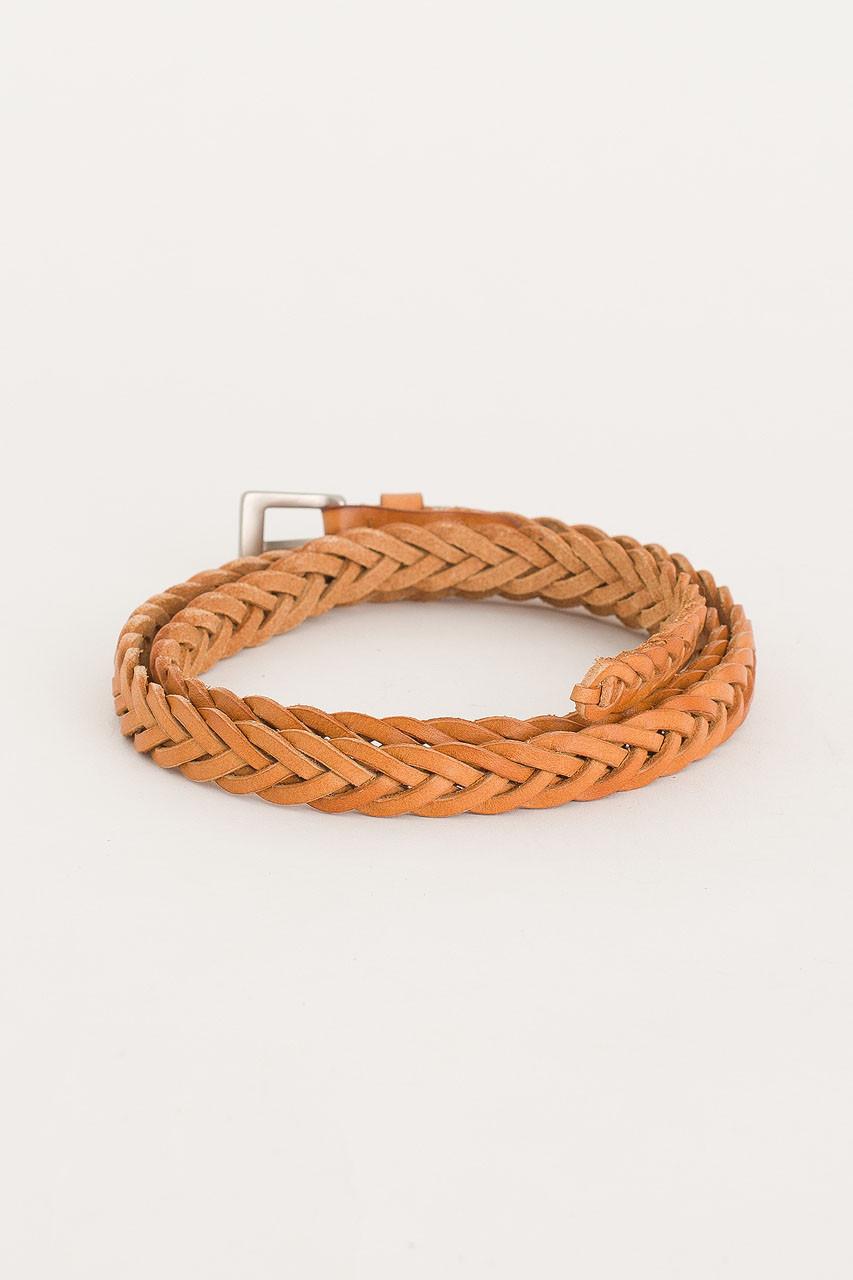 Cable Skinny Belt, Tan