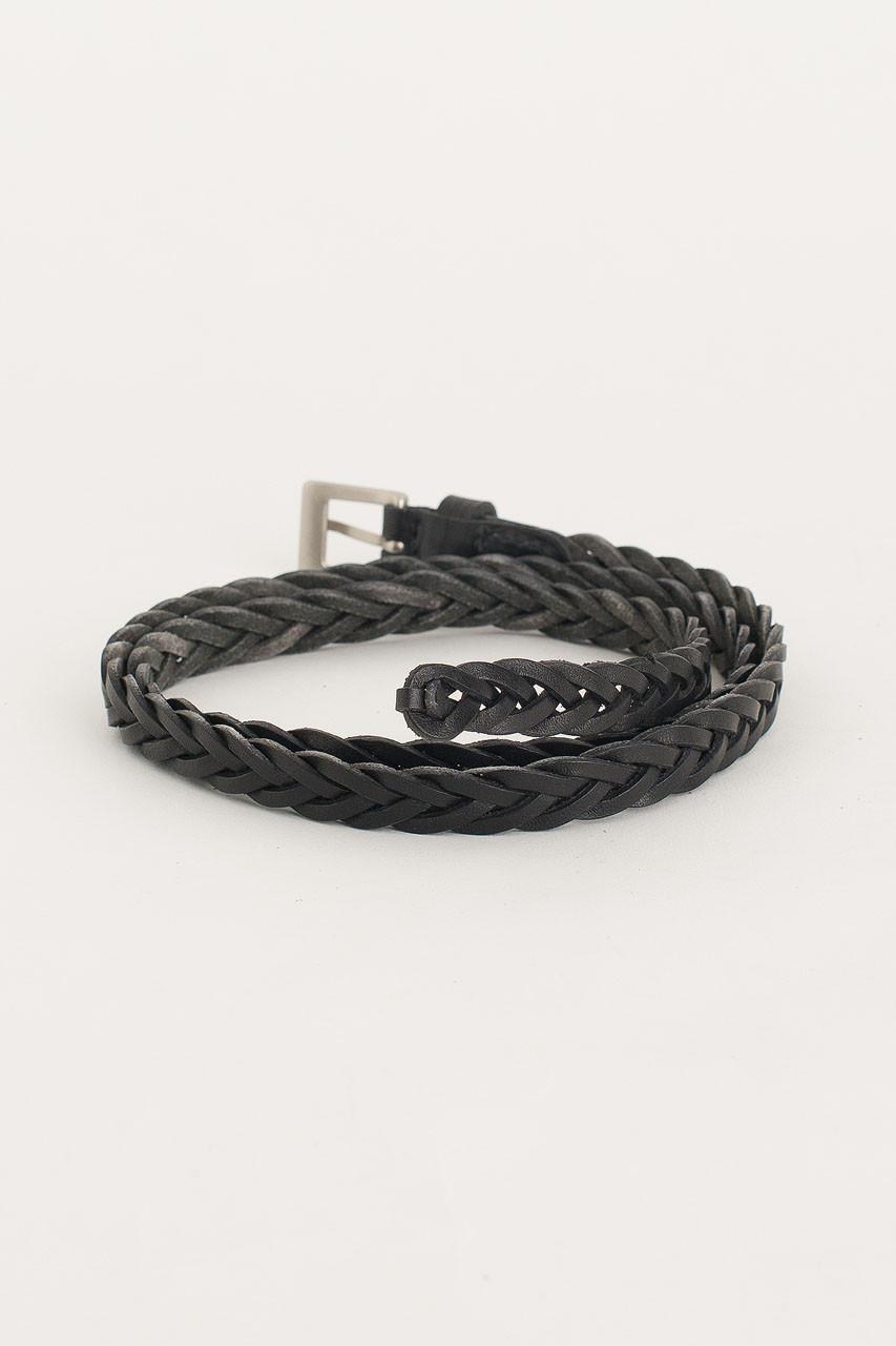 Cable Skinny Belt, Black