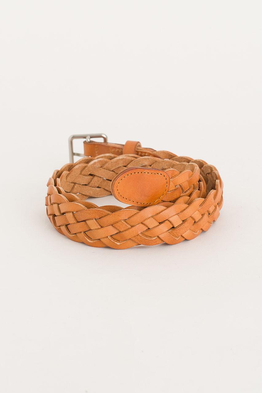 Cable Belt, Tan