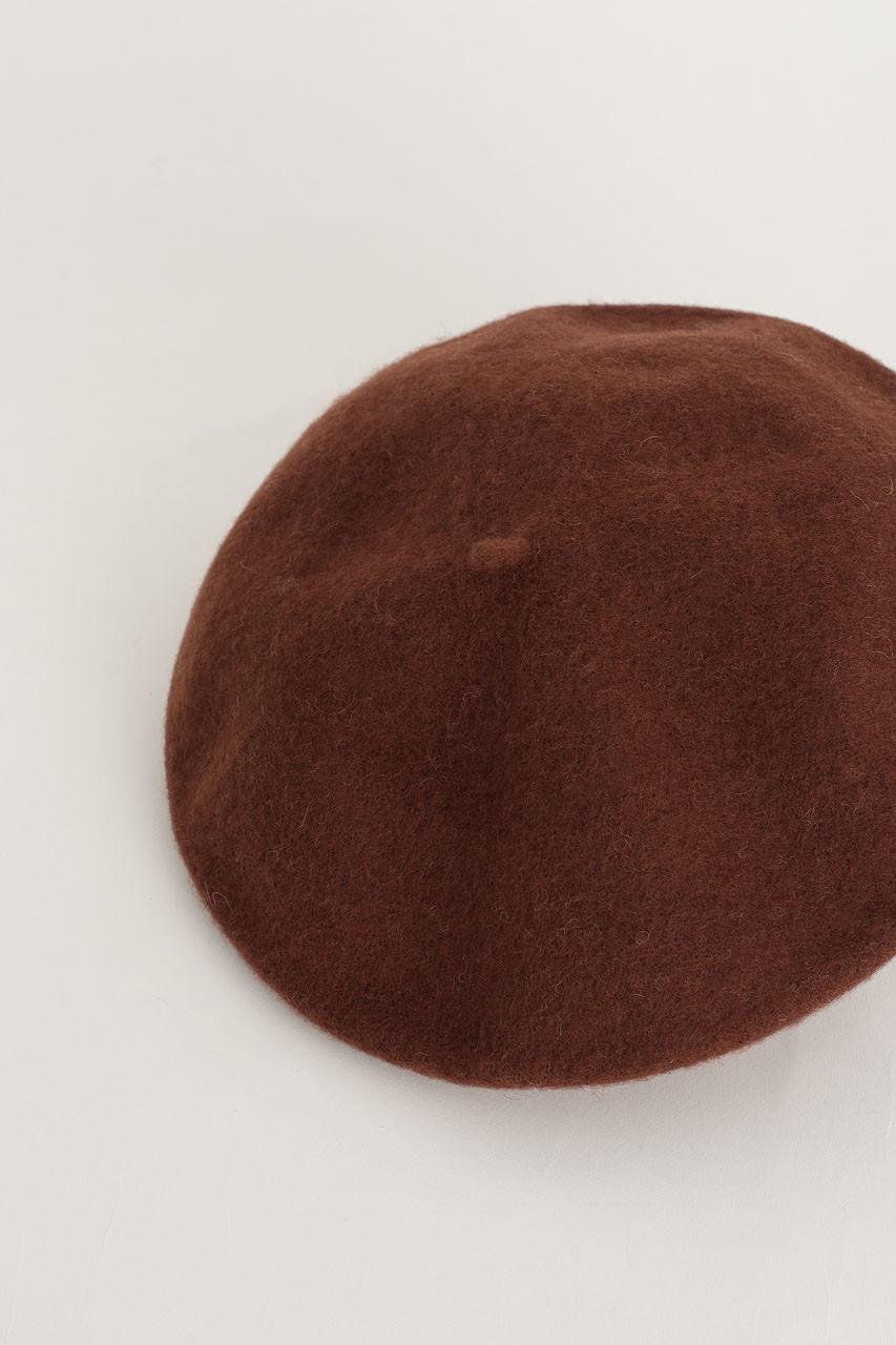 18 Wool Beret, Brown