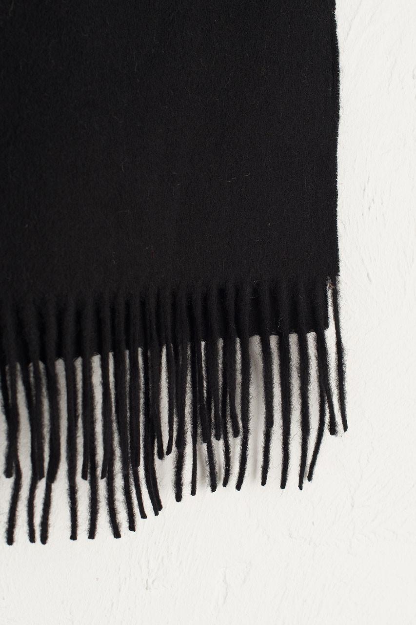 A/W 19 Mini Wool Scarf, Black