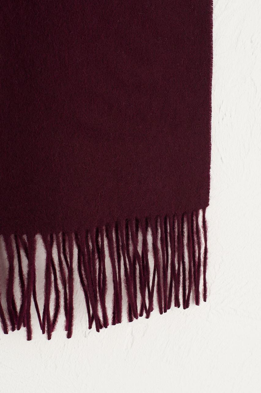 A/W 19 Mini Wool Scarf, Burgundy