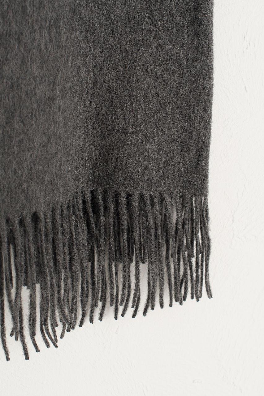 A/W 19 Large Wool Scarf, Dark Grey
