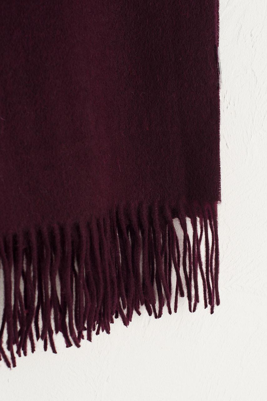 A/W 19 Large Wool Scarf, Burgundy