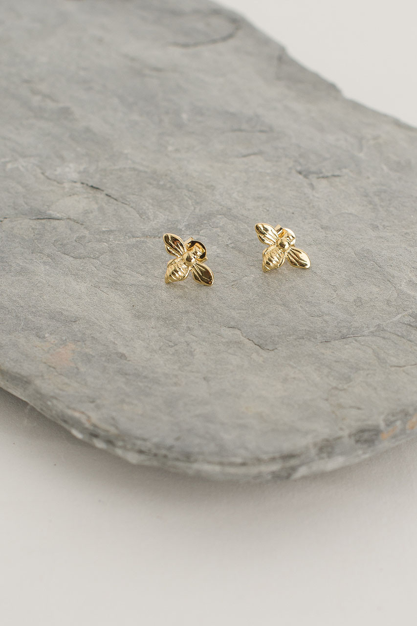 Bee Stud, Gold Plated