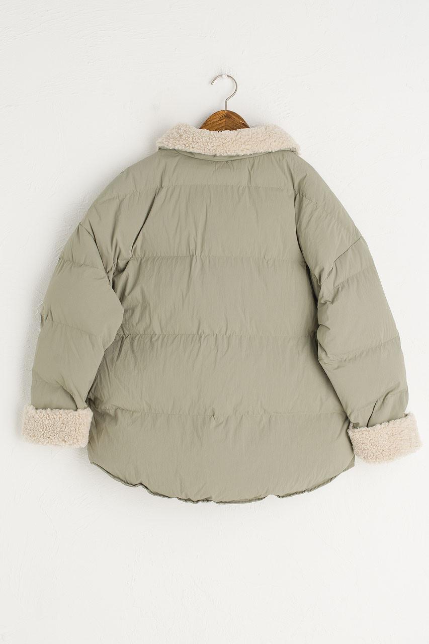 Oversize Puffer Jacket, Mint