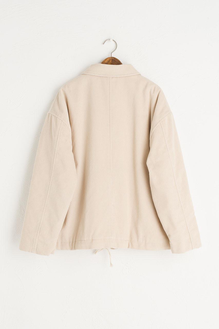 Corduroy Faux Shearing Jacket, Ivory