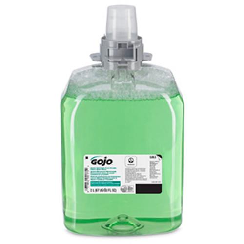 Gojo FMX-20 2000ml Green Certified Foam Hand, Hair & Body Wash Refills (Case of 2)