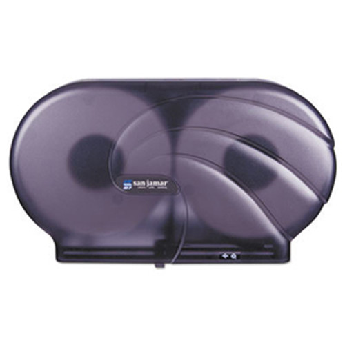"San Jamar Oceans Twin 9"" Tissue Dispenser - Black Pearl"