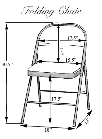 How to Measure folding Chair Covers