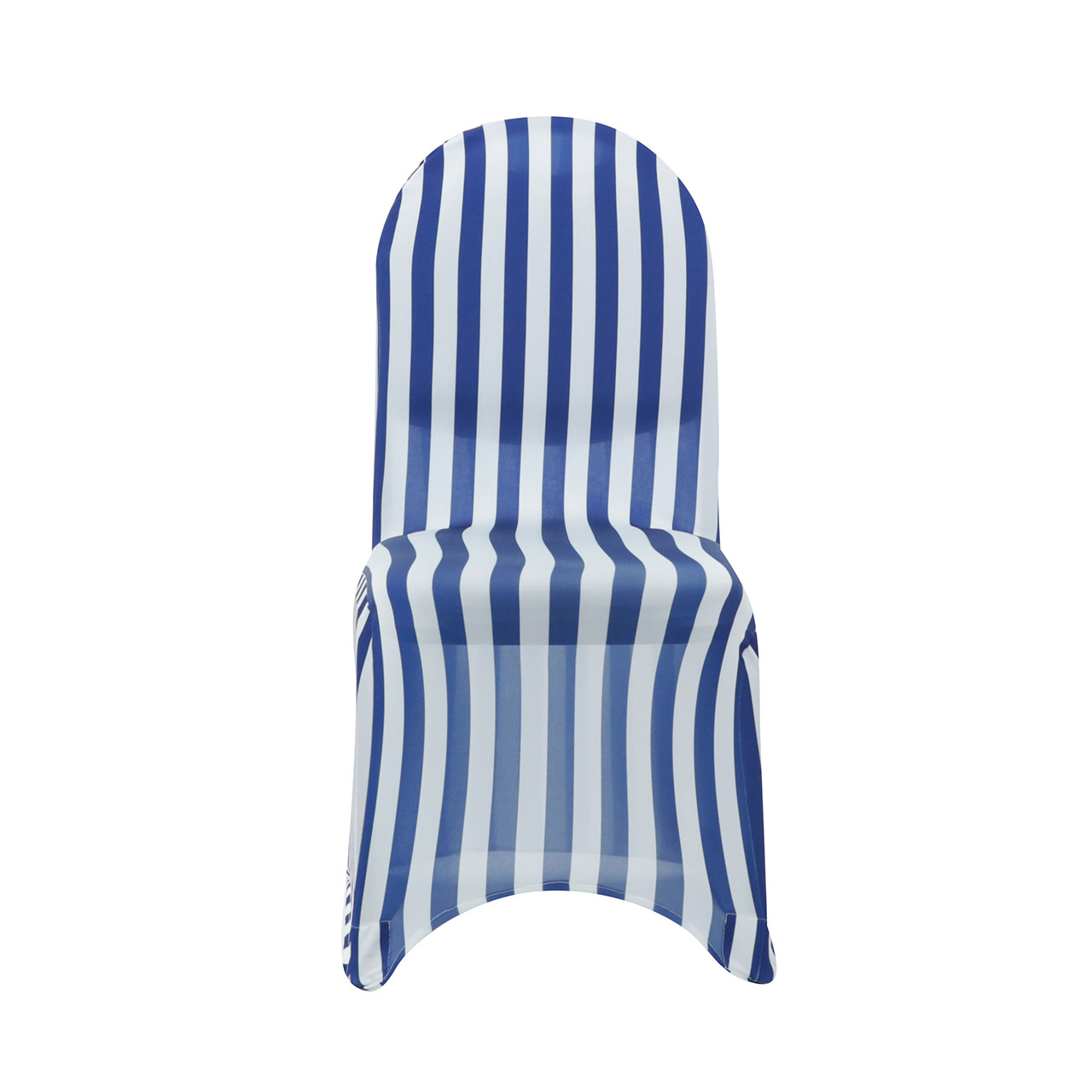Incroyable ... White And Royal Blue Striped Spandex Chair Covers Wholesale