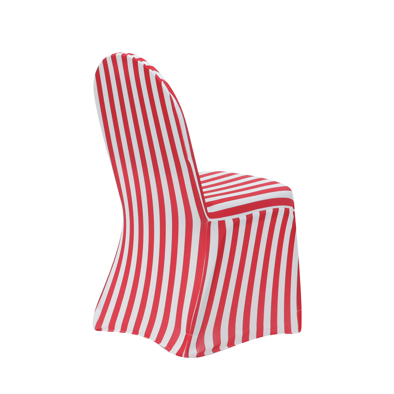 Stretch Spandex Banquet Chair Cover Striped White And Red ...