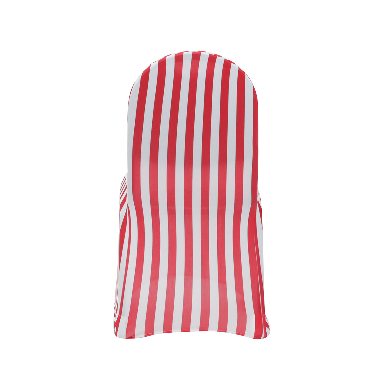 ... Red And White Spandex Striped Chair Covers ...