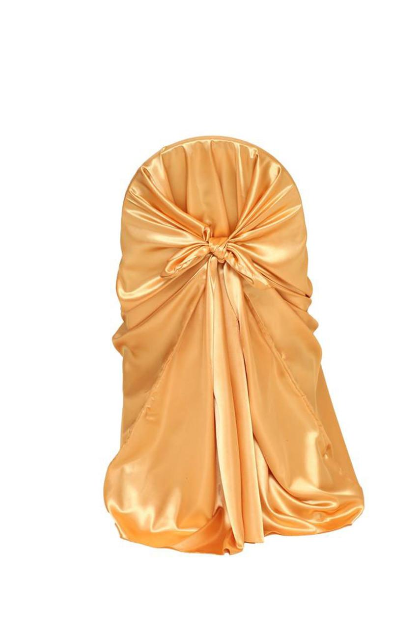 Golden Universal Tarot Reading: Satin Self-Tie Universal Chair Cover Gold