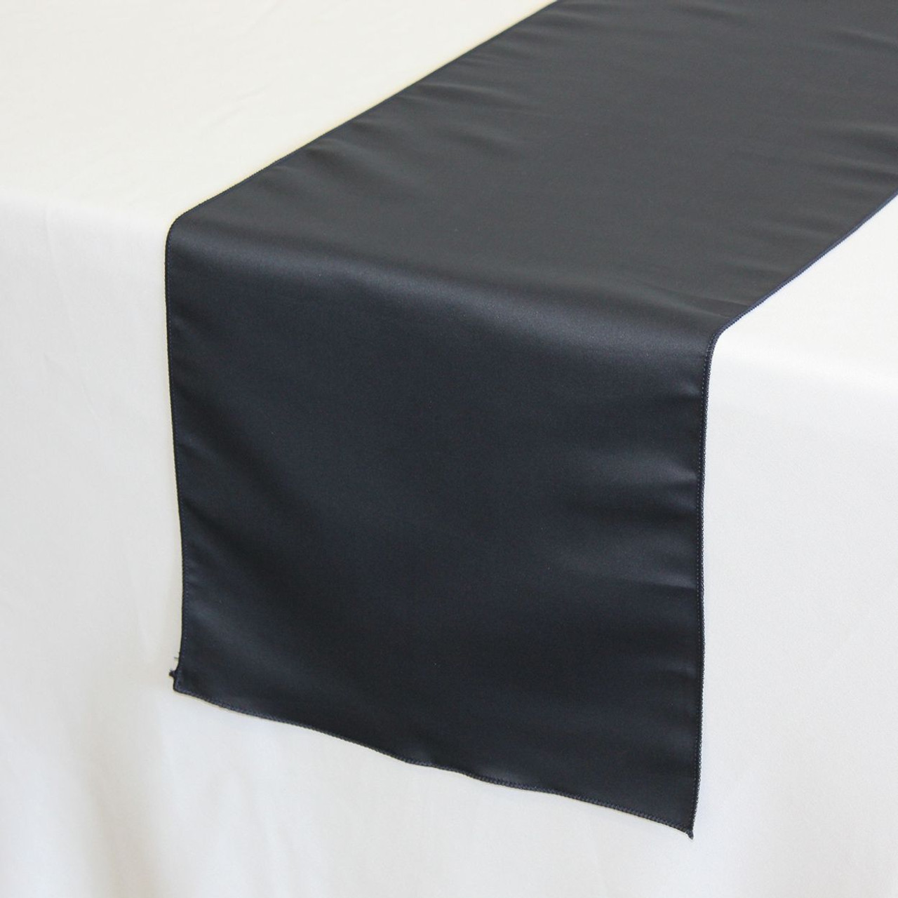 14 X 108 Inch L Amour Satin Table Runner Navy Blue Your