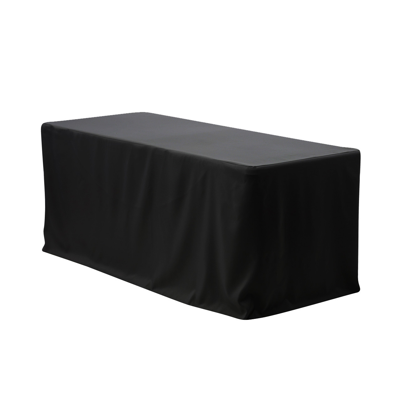 8 Ft Fitted Polyester Tablecloth Rectangular Black Your
