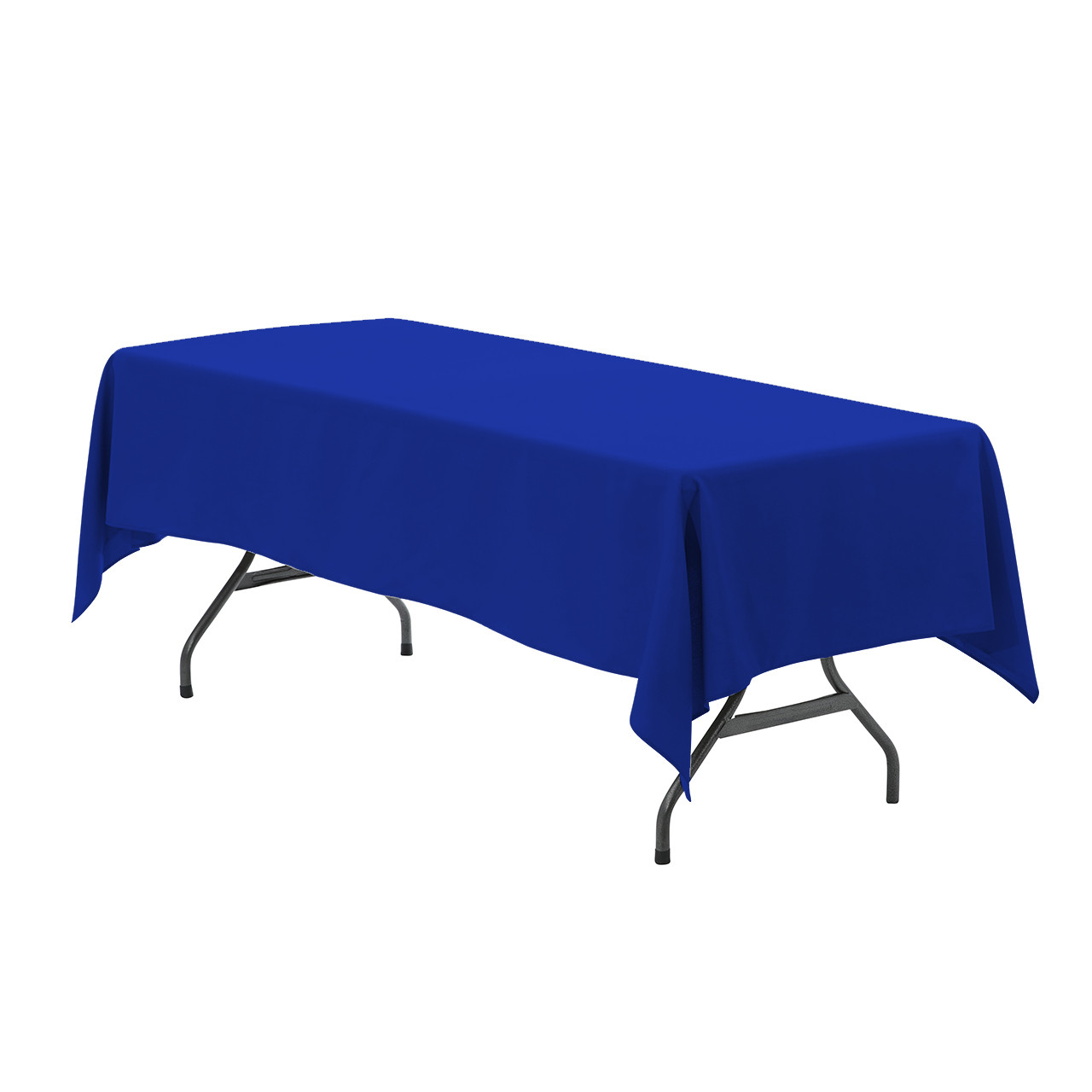Charmant 60 X 102 Inch Rectangular Polyester Tablecloth Royal Blue ...