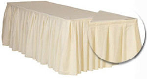 21 ft x 29 inch Polyester Table Skirts