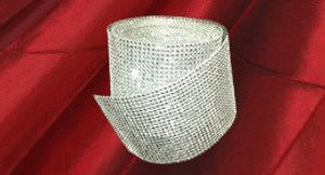 Rhinestone Ribbon Mesh Roll