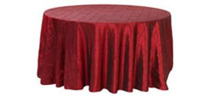 Round Pintuck Tablecloths
