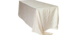 90 x 156 inch Rectangular Pintuck Tablecloths