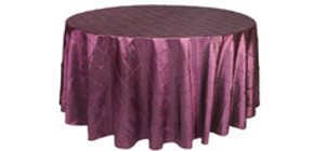 120 inch Round Pintuck Tablecloths