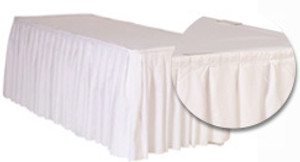 17 ft x 29 inch Polyester Table Skirts