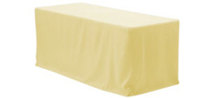 8 ft Rectangular Fitted Polyester Tablecloths