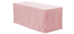 4 ft Rectangular Fitted Polyester Tablecloths
