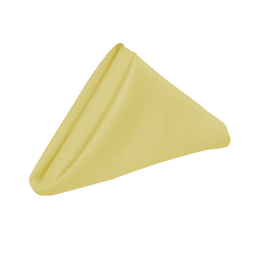 20 inch Polyester Cloth Napkins Pastel Yellow (Pack of 10)