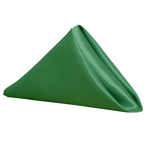 20 inch Satin Cloth Napkins Hunter Green (Pack of 10)