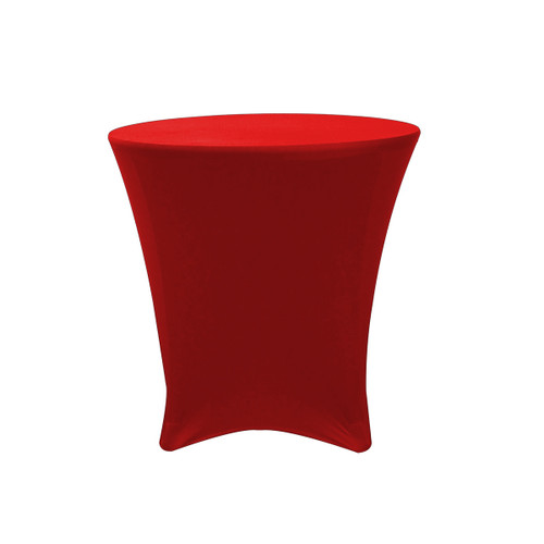 30 x 30 inch Lowboy Cocktail Round Stretch Spandex Table Cover Red