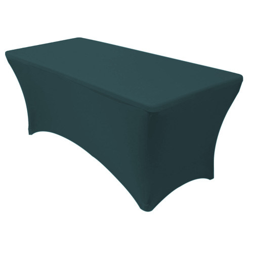 Stretch Spandex 6 Ft Rectangular Table Cover Hunter Green