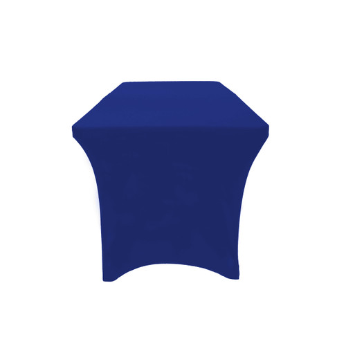 Stretch Spandex 6 Ft Open Back Rectangular Table Cover Royal Blue, Wholesale