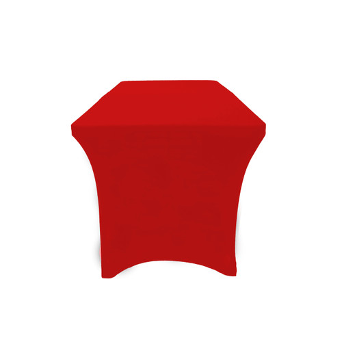 Stretch Spandex 6 Ft Open Back Rectangular Table Cover Red, Wholesale