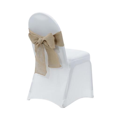 burlap chair sashes