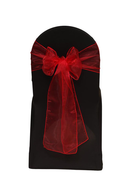 Organza Sashes Red (Pack of 10)