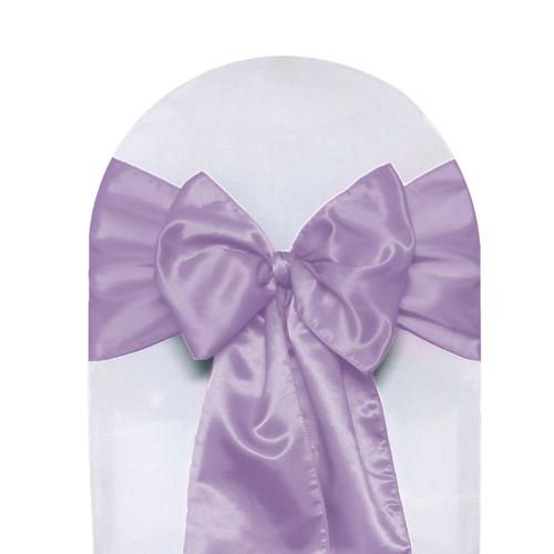 Satin Sashes Lavender (Pack of 10)