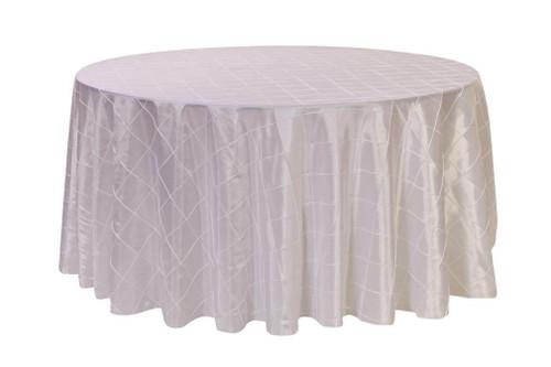120 Inch Pintuck Taffeta Round Tablecloths White