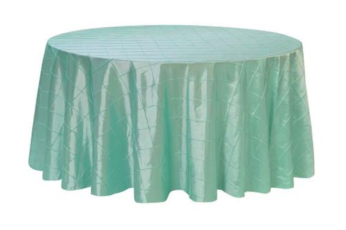 120 Inch Pintuck Taffeta Round Tablecloth Tiffany