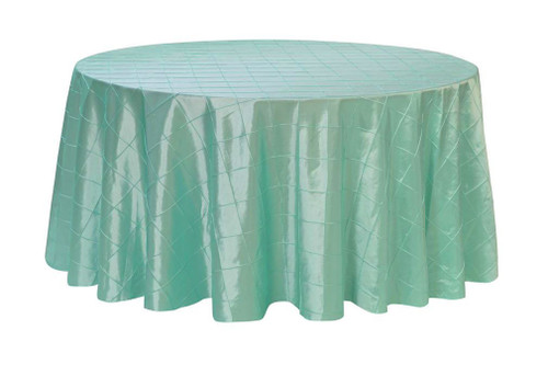 132 Inch Pintuck Taffeta Round Tablecloth Tiffany