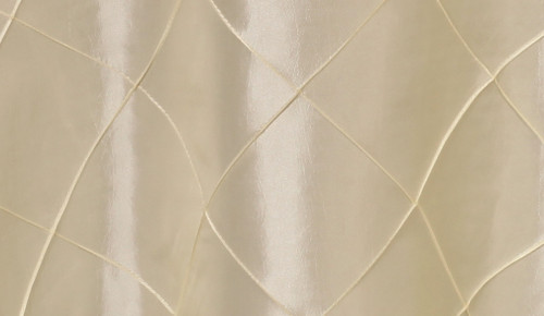 132 inch Pintuck Taffeta Round Tablecloth Ivory