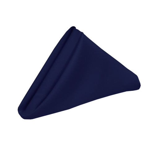 20 inch Polyester Cloth Napkins Navy Blue (Pack of 10)