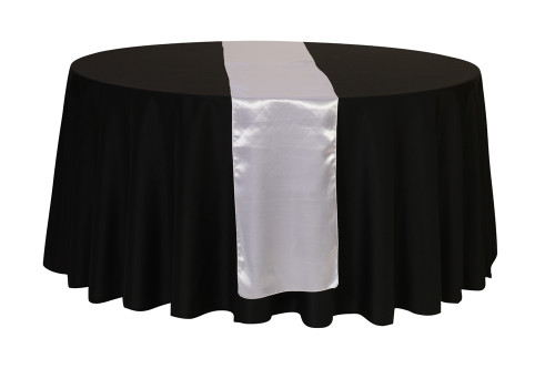 14 x 108 inch Satin Table Runner White