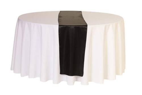 14 x 108 inch Satin Table Runner Black