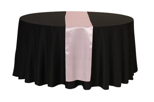 14 x 108 inch Satin Table Runner Pink