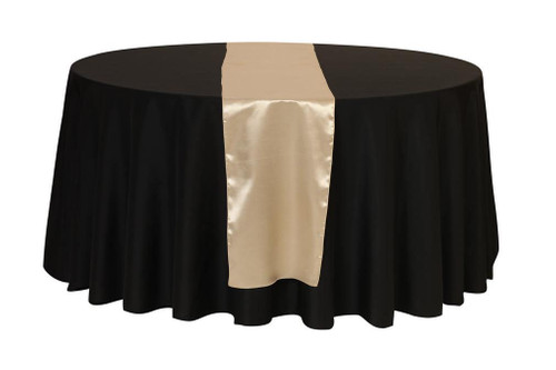 14 x 108 inch Satin Table Runner Champagne