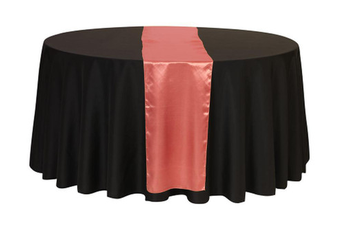 14 x 108 inch Satin Table Runner Coral
