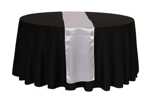 14 x 108 inch Satin Table Runner Silver